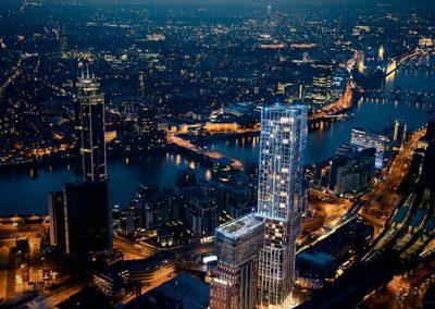 Appartamenti Londraaerial night