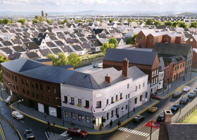 Investimenti all estero - hotel Cheltenham aerial day