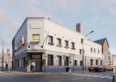 Investimenti all estero - hotel Cheltenham front day